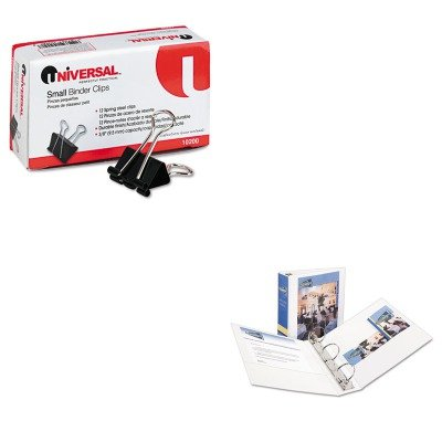 KITAVE05741UNV10200 - Value Kit - Avery Economy View Binder with Round Rings (AVE05741) and Universal Small Binder Clips (UNV10200) by Avery