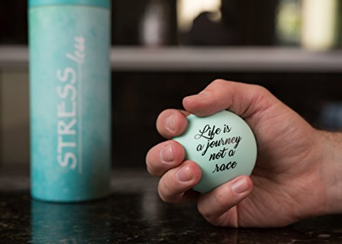Effects of stress on the body. Stress Balls with Inspirational Life Quotes, Stress Relief for Adults and Kids (3 pack stress balls) (Green)