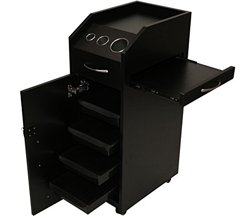 Trolley Bowl (LCL Beauty Locking 4 Drawer Rolling Workstation Trolley with Tool Holders & Nesting Utility Shelf)