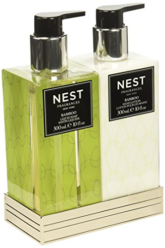(NEST Fragrances Bamboo Liquid Soap & Hand Lotion Set)