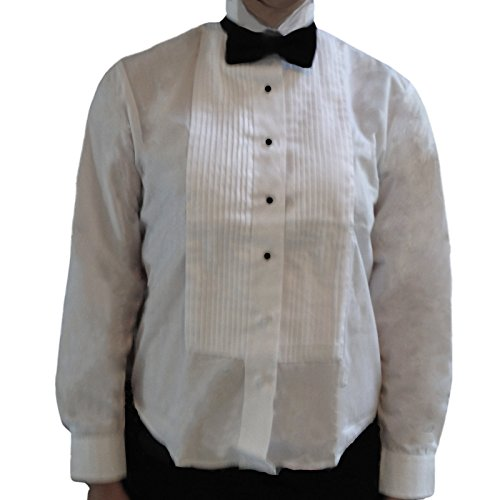 (Broadway Tuxmakers Women's Wing Collar, Large Pleats Tuxedo Shirt (18))