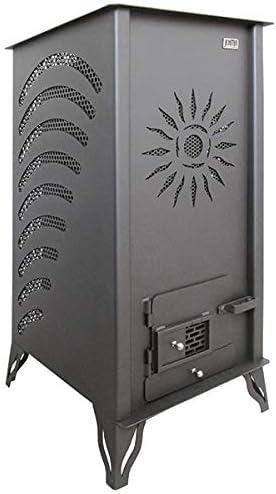 Estufa Biomasa sin Electricidad JOIMA Modelo Mini Eco Sol (Pellet-Orujo). Funciona sin Luz. Estufa de Orujillo