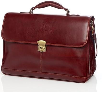 Amazon.com  Maruse Sisto Italian Leather Briefcase - Made in Italy ... 92a3c2ec6e