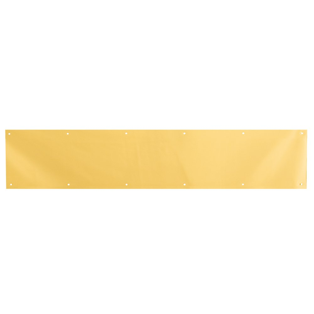 Prime-Line Products J 4703 Door Kick Plate, 6-Inch x 34-Inch, Brite Brass on Aluminum
