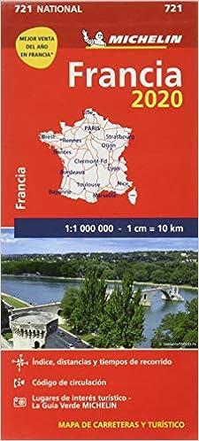 Mapa National Francia 2020 (Mapas National Michelin): Amazon.es ...