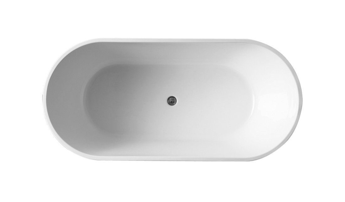 Eviva EVTB1018-59WH Alexa 60'' Acrylic Free Standing Bathtub Freestanding, White by Eviva