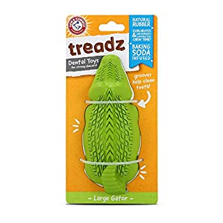 Arm & Hammer Super Treadz Gator & Gorilla Chew Toy for Dogs | Best Dental Dog Chew Toy | Reduces Plaque & Tartar Buildup Without Brushing
