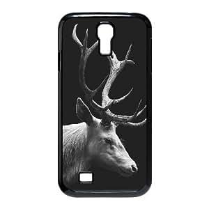 Samsung Galaxy S4 Cases White Stag Deer Elk., Samsung Galaxy S4 Cases Deer, [Black]
