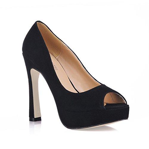 Schuh den Schwarz Schuhen Wild Büro High wasserfesten Fischschuh Heel aus den OL Probieren schwarzem neuen Sie satiniertem Desktop mit xpUwUqSI5