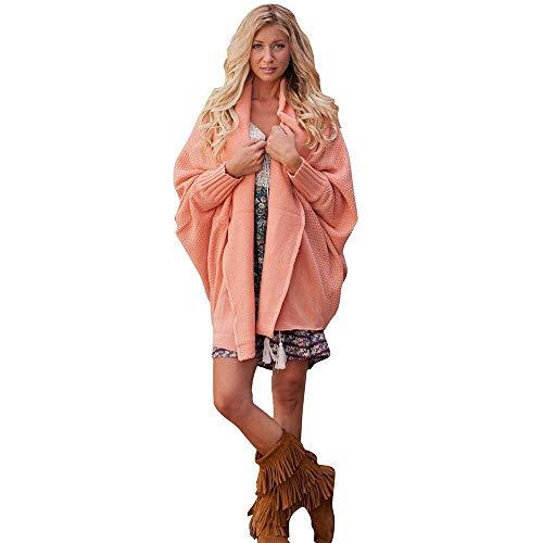 Camicetta Donna Cappotto Maglione Maniche Top Felpa A Oversize Lunghe colore Solid Rosa Einheitsgröße Allentato Signore Rosa Verde Blu Cardigan Dimensione khaki Fuweiencore Outwear 0tqwIpS