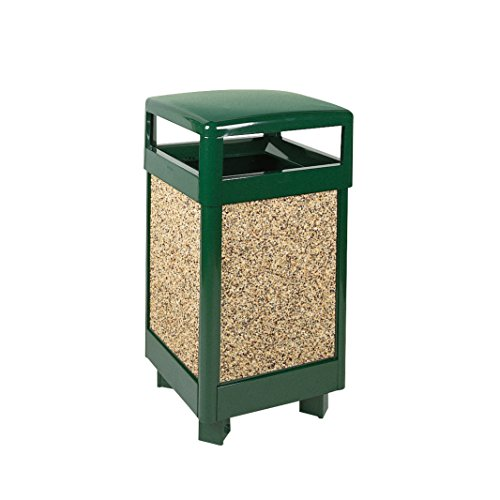 Rubbermaid Commercial Products FGR36HT202PL Refuse Container (Hinged Top, 29-Gallon)