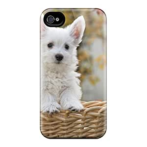 Premium West Highl White Terrier Puppy Back Cover Snap On Case For Iphone 4/4s