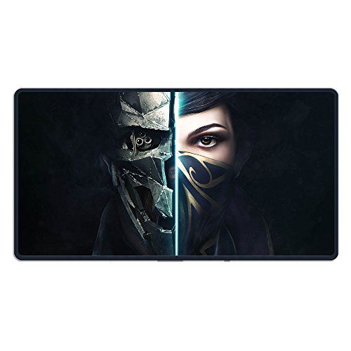 Price comparison product image Dishonored 2 Emily Kaldwin Logo Big Size Mouse Pad 15.7*29.5 Inch For Gaming/Working