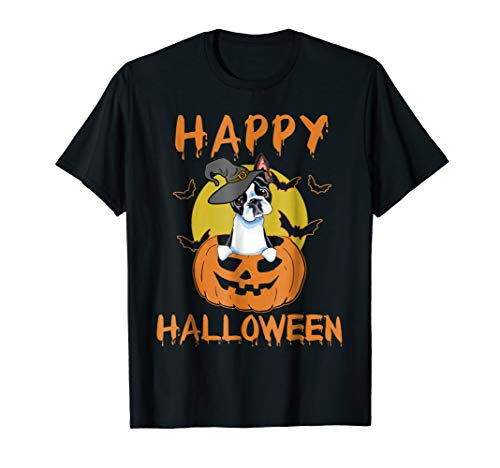Boston Terrier - Funny Happy Halloween -
