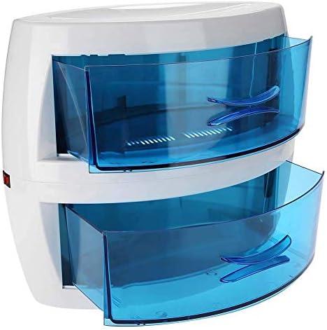 FCCD Esterilizador UV con cajón doble, máquina limpiadora de herramientas de manicura, desinfectante de gran capacidad para salón de belleza y certificación de salón de uñas
