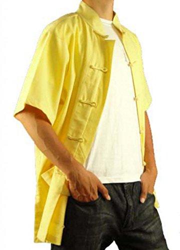 Premium 108 Goldenes Handgefertigt Tai Hemd Maßgeschneidertes Leinen aus Golden Chi RY18a8Wq