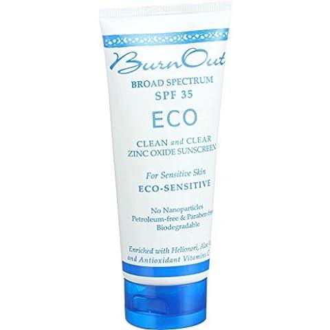 Burn Out Sunscreen - Eco Sensitive - SPF 35 - 3 oz - Excalibur Folding Knife