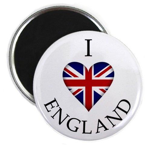 Uk Fridge (I HEART ENGLAND UK UNION JACK World Flag 2.25 inch Fridge Magnet)