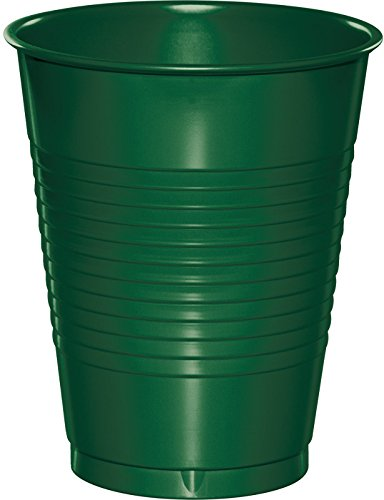 Creative Converting 28312481 Party  Supplies, 16 oz, Hunter Green (20 Count) ()