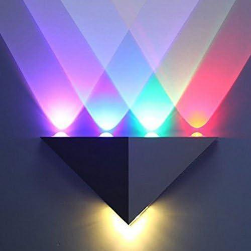 INNORI 5W Led Wall Sconce Lights Aisle light Bedroom Hote Triangle Shape Decorative Lights,Multi colored light