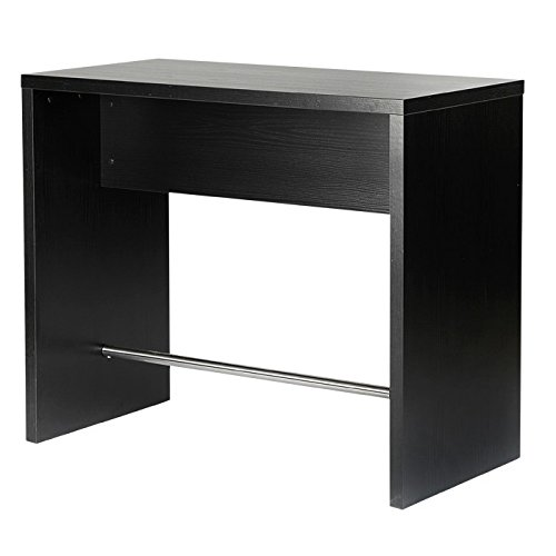 Home Essentials Inc Modern Black Ash Breakfast Bar Table