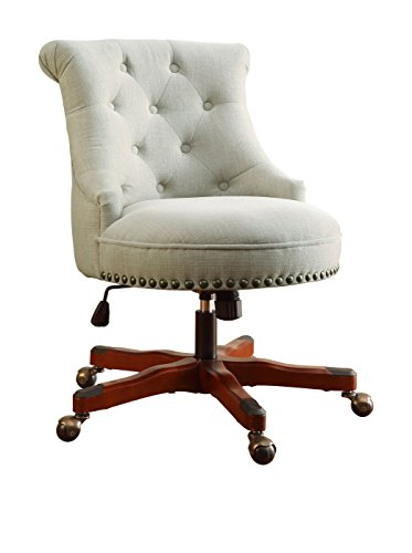 Linon Sinclair Executive Office Chair - Linon Pine Table