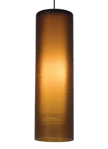(Borrego 1 Light Kable Lite Pendant Finish: Satin Nickel, Color: Amber)