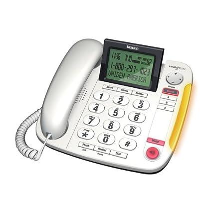 amazon com uniden big button desktop corded phone cez260 w rh amazon com