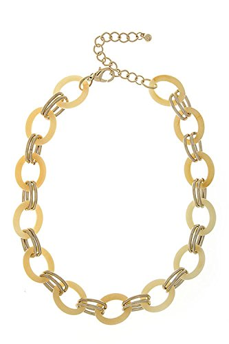 Solid Snake Costume For Sale - THE JEWEL RACK SOLID OVAL LINKED NECKLACE (Beige)