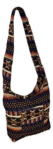 Large for Bag Women Blue Tapestry Stripe Sling with Shoulder Crossbody Hobo Pocket FqAg1