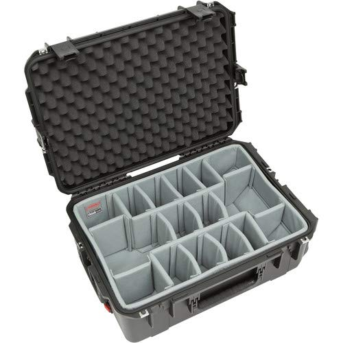 iSeries 2215-8 Waterproof Utility Case with Wheels and Think Tank Photo Dividers (Black) [並行輸入品] B07RBKPL63