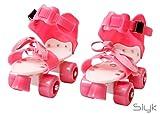 SLYK pro lite roller skates shoes for kids / childrens - UNISEX (PINK)