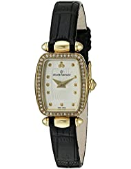 Claude Bernard Women's 'Mini Collection' Quartz Stainless Steel and Leather Dress Watch, Color:Black (Model: 20211...