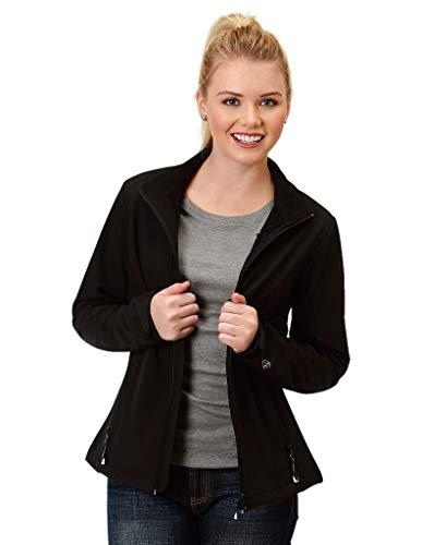 Roper Western Jacket Womens Zipper 2X Black 03-098-7780-0758 BL