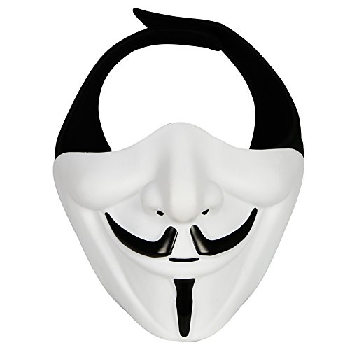 Outry Half Face Mask - One Size Fits Most - Lower Face Protective Mask for Airsoft/Paintball/BB Gun/CS Game/Hunting/Shooting, Ideal Mask for Halloween, Cosplay, Costume Party and Movie -