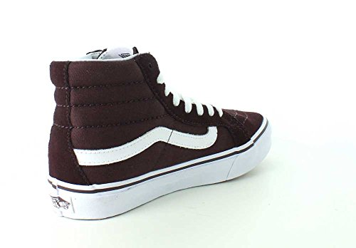41ce2c4c09 ... Vans Womens SK8-Hi Slim Sneaker Iron Brown True White HDwMSdZHc