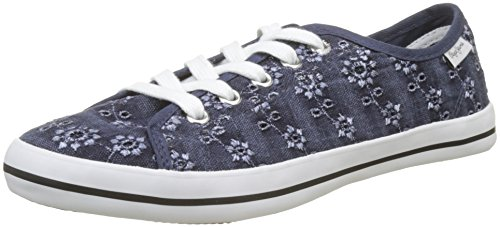 Sneakers Jeans Anglaise Gery Pepe Femme naval Basses Bleu Blue zUBFwxwqO
