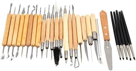 彫刻ツールセット、JR2-18A 27個DIY彫刻彫刻ツール彫刻ツール粘土彫刻ツールセットアクセサリーDIY彫刻ツール