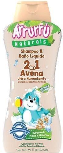 Arrurru Baby Shampoo & Baño Liquido 2 en 1 Avena. 35.8 Fl oz.