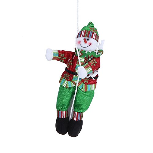Whitelotous Toy Doll Climbing Rope Ornaments Christmas Tree Decorations Best Gift (Snowman) ()
