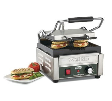 Waring Commercial WPG150B Compact Italian-Style Panini Grill, 208-volt