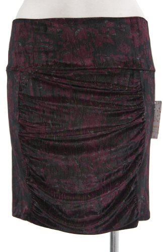 Free People Printed Crushed Velvet Mini Skirt in Jewel Combo (XSmall)
