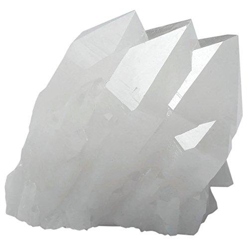 SUNYIK Natural Rock Quartz Crystal Cluster,Druzy Geode Crystal Point,Specimen Gemstone Sculpture Sphere(0.5-0.6lb)