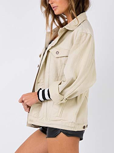 4cda07e8dd Women Beskie Boyfriend Denim Jacket for Women Oversized Long Sleeve Jean  Jacket Loose Coats
