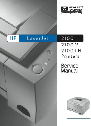 HP LaserJet Laser Printer 2100 310 page Service Manual