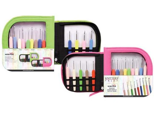 Knitter-s Pride Crochet Hooks Sets, Waves with Green Case by Knitter's Pride