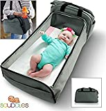 Baby Crib with Changing Station Scuddles- 3-1| portable bassinet | for baby | Foldable Baby Bed | Travel Bassinet Functions As A Diaper Bag And Changing Station , Easy Folding For Travel