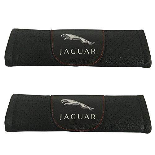 2pcs Set Jaguar Car Seat Safety Belt Covers Leather Shoulder Pad Accessories Fit for Jaguar E-Pace F-Pace F-Type I-Pace XE XF XJ XJR575