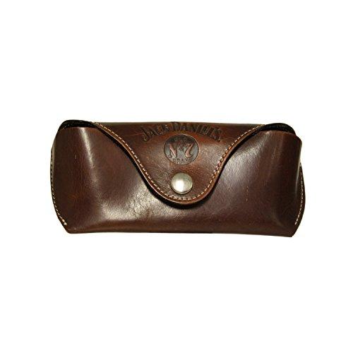 Jack Daniel's Western leather glasses case with belt - Daniels Jack Sunglasses