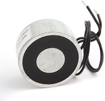 Metal 50LB 25kg 250N Electric Lifting Magnet Holding Electromagnet 12V//24V DC